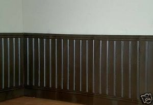Dolls House Tongue and Groove Panels, 10 x 1/12th Dark Brown. A1006